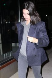 Kendall Jenner Night Out Style - NYC 01/27/2018