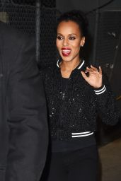 Kerry Washington - Leaving The Jimmy Kimmel Show in Los Angeles