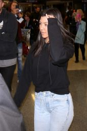 Kourtney Kardashian at LAX Airport in LA 01/23/2018
