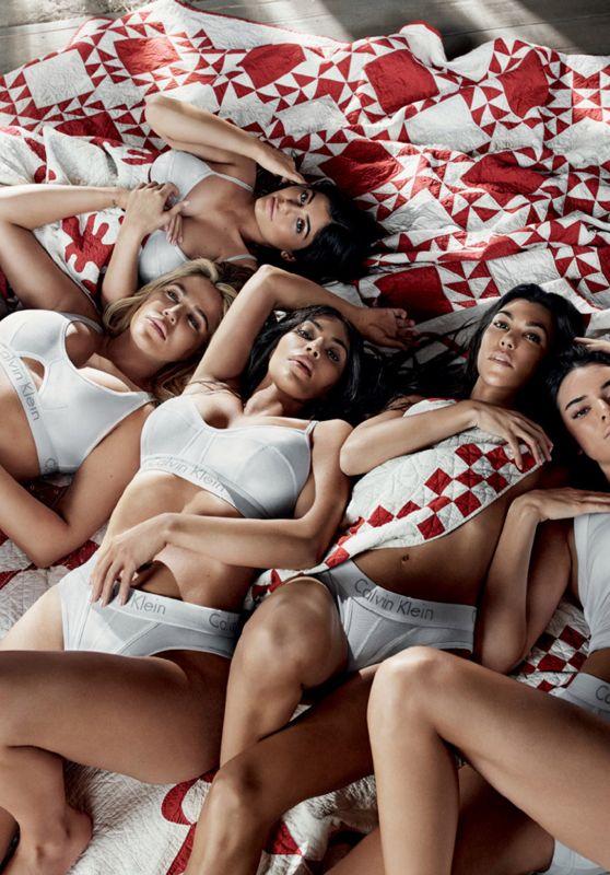 Kourtney, Kim & Khloe Kardashian and Kendall & Kylie Jenner - Calvin Klein 2018 Campaign