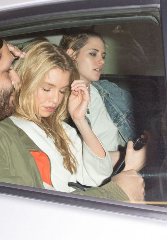 Kristen Stewart and Stella Maxwell - Leaving Madeo Ristorante in West Hollywood