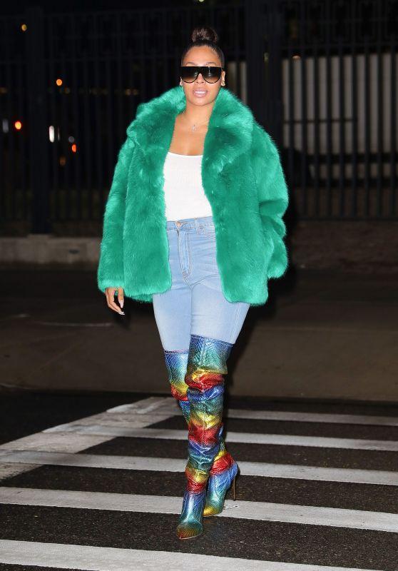 La La Anthony Night Out Style - New York City 01/23/2018