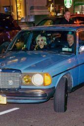 Lady Gaga in a Vintage Mercedes in NYC