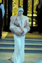 Lady Gaga Leaving Hotel in Milan