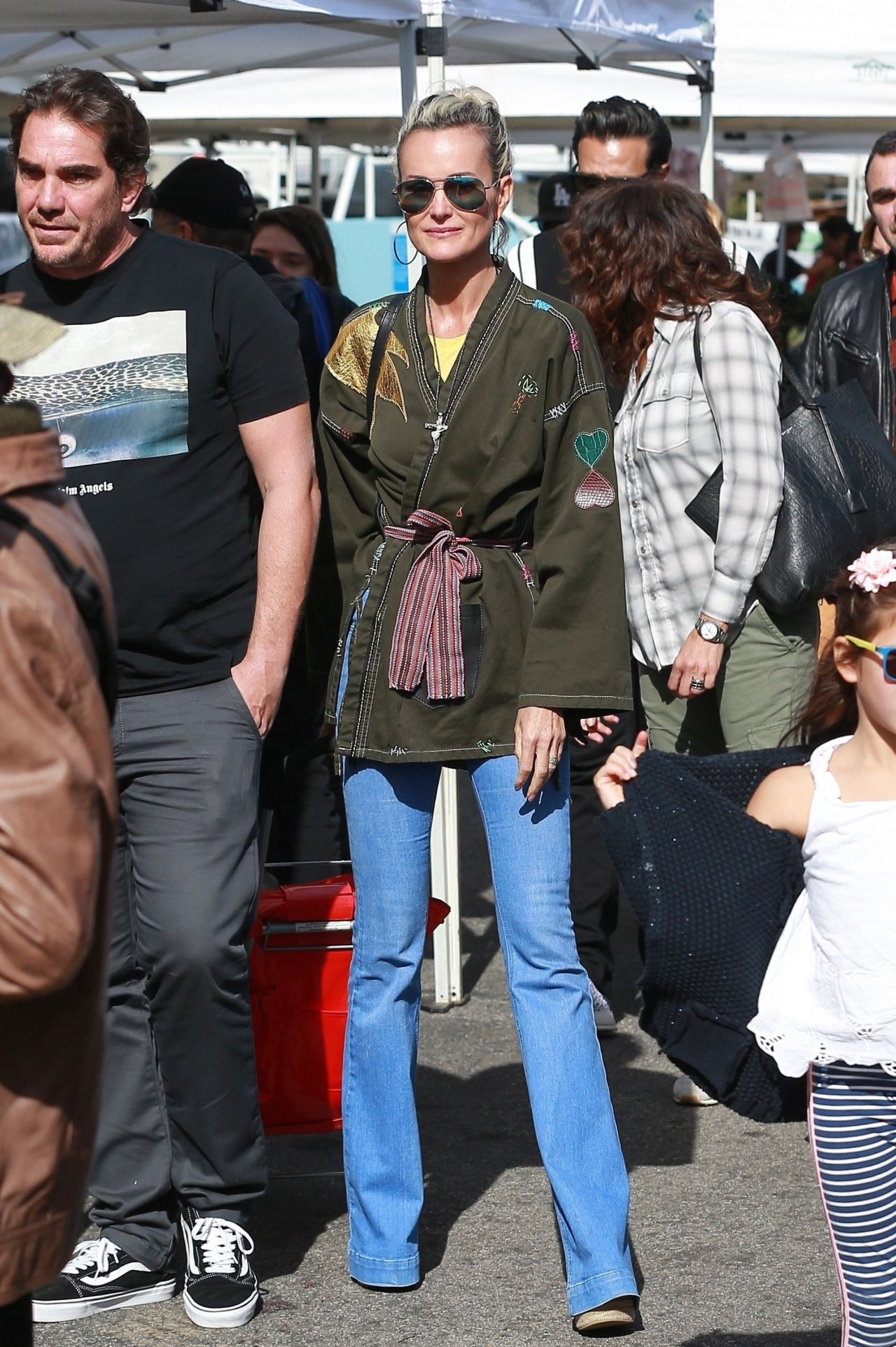 Laeticia Hallyday at Farmers Market in Los Angeles 01/21/2018
