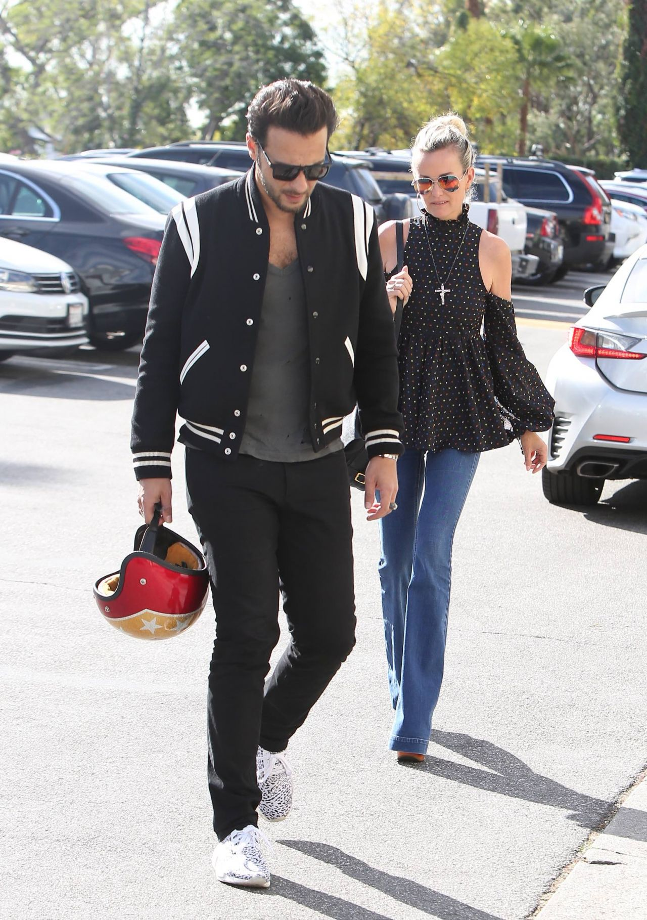Laeticia Hallyday With Younger Male Friend Out In
