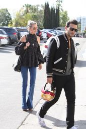 Laeticia Hallyday With Younger Male Friend - Out in Hollywood 01/24/2018