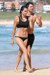 Laura Byrne in Bikini at Bondi Beach in Sydney