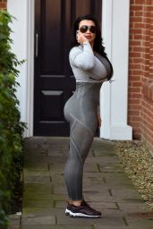 Lauren Goodger in Tight Workout Clothes in Essex, January 2018