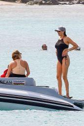 Lauren Silverman in Swimsuit Paddle Boarding in Barbados