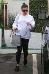 Lea Michele in Spandex Visits a Spa in Santa Monica
