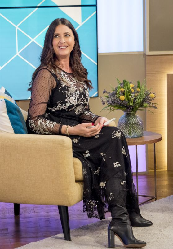 Lisa Snowdon at This Morning TV Show in London