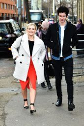 Lucy Fallon - Outside ITV Studios in London