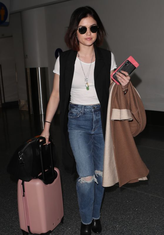 Lucy Hale at LAX Airport in Los Angeles