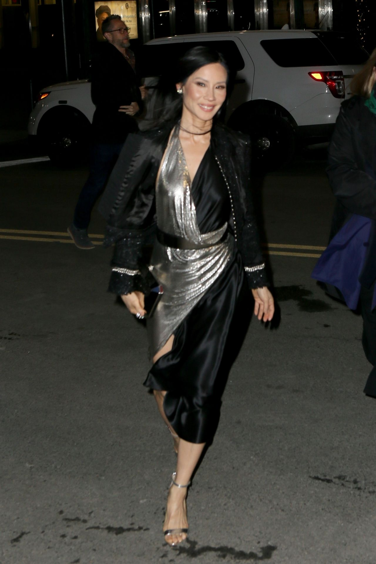 Lucy Liu At Elton John Concert At Madison Square Garden In