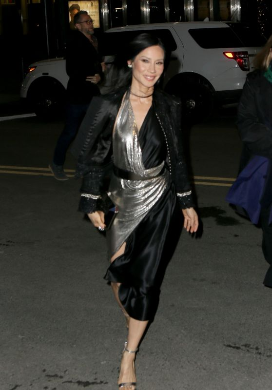 Lucy Liu at Elton John concert at Madison Square Garden in New York City