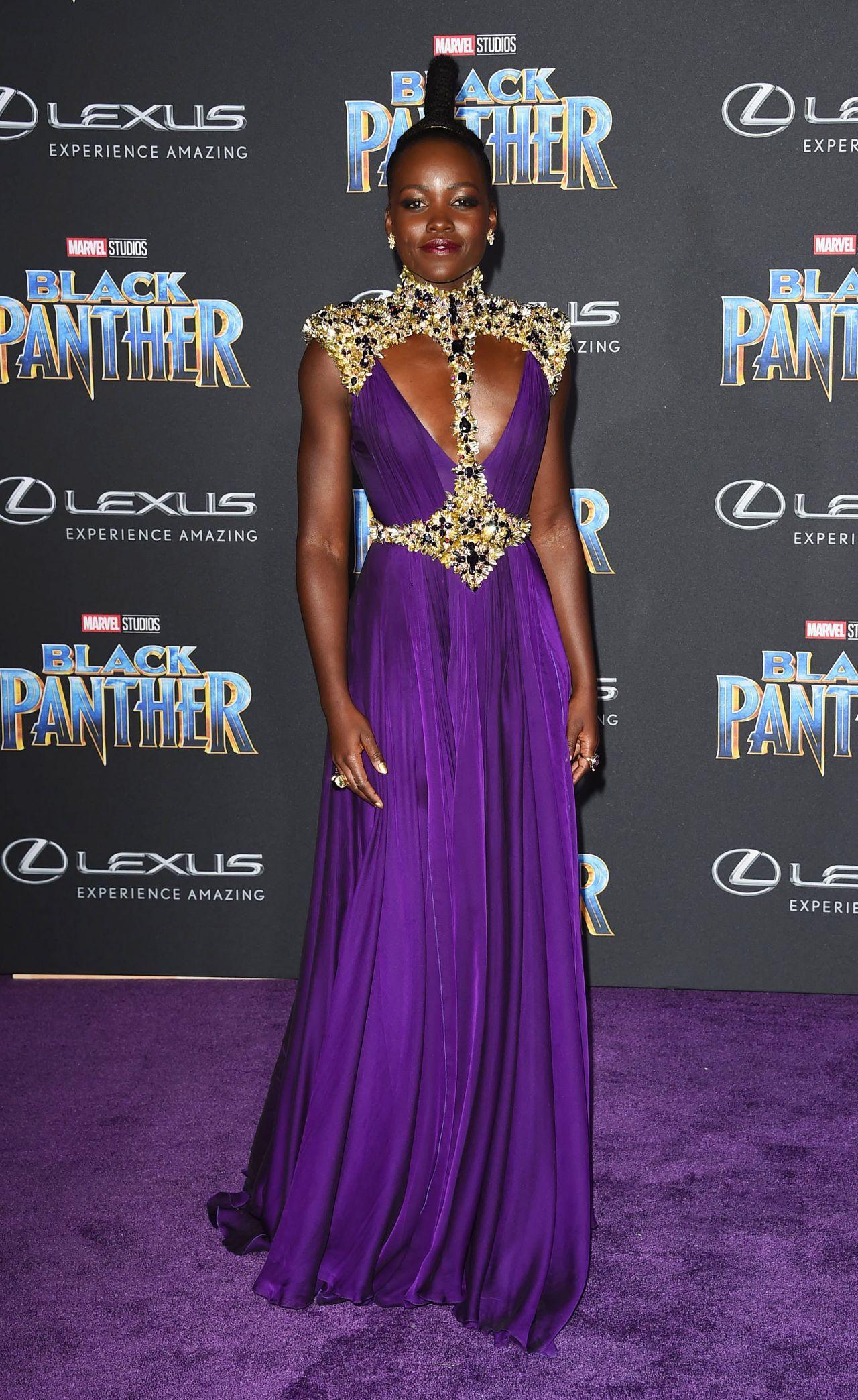 Lupita Nyong O Black Panther Premiere In Hollywood