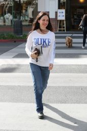 Madeleine Stowe Street Style - Makes a Coffee Run in Beverly Hills