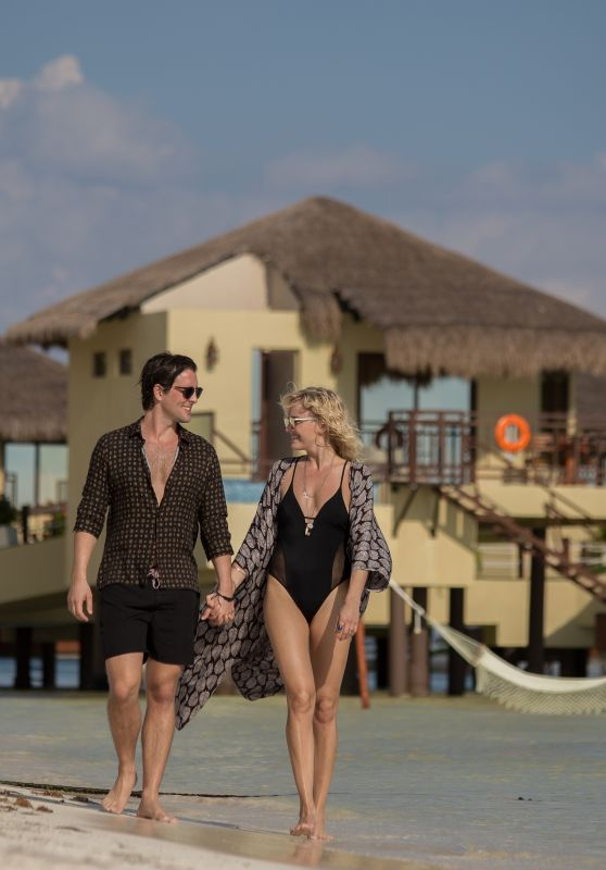 Malin Akermanin Swimsuit - With Finance on Mexico Beach