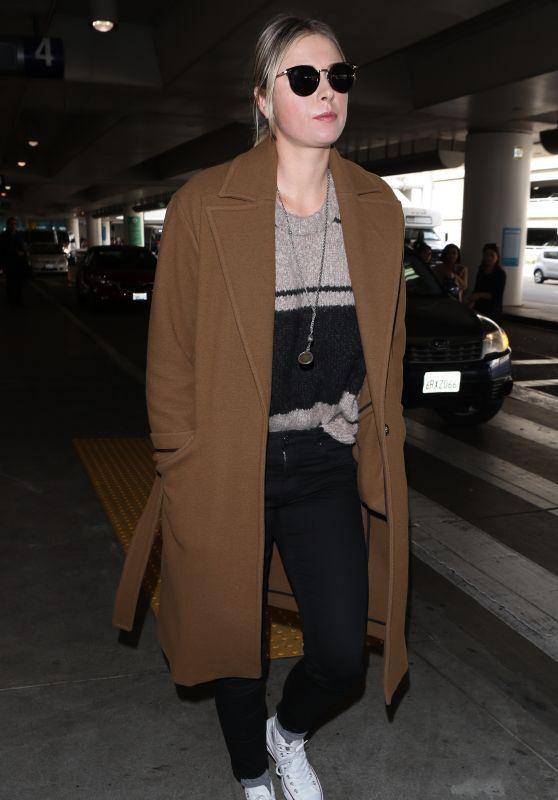 Maria Sharapova at LAX Airport in LA 01/25/2018