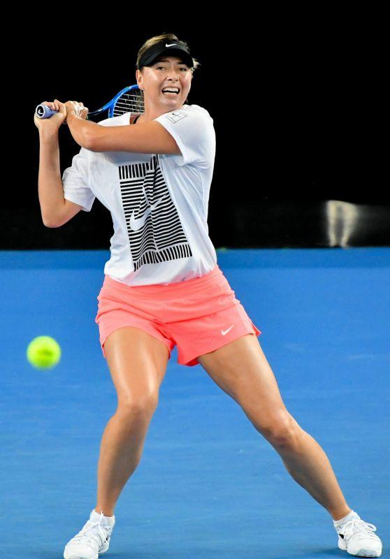 Maria Sharapova – Practice at the 2018 Australian Open in Melbourne