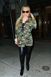 Mariah Carey in Camouflage Jacket Out in New York City 01/24/2018