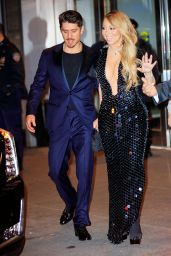 Mariah Carey - Leaving the Clive Davis Pre-Grammy Party in NYC