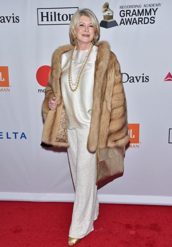Martha Stewart – Clive Davis and Recording Academy Pre-Grammy Gala in NYC