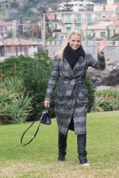Michelle Hunziker - Relax at the Beach in Sanremo 01/29/2018