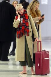 Michelle Williams at JFK Airport in New York City 01/29/2018