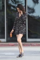 Mila Kunis in Mini Dress Out in Bel Air