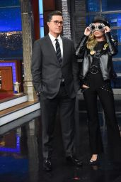 "Miley Cyrus Appeared on ""The Late Show with Stephen Colbert"" in NYC"