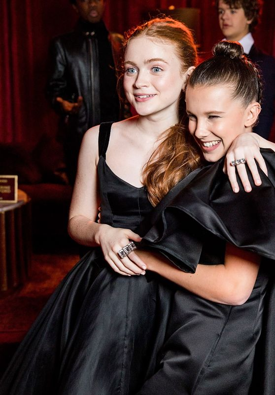 Millie Bobby Brown and Sadie Sink - Netflix Golden Globes After Party in Beverly Hills
