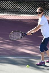 Natalie Portman Playing Tennis at a Park in Los Angeles