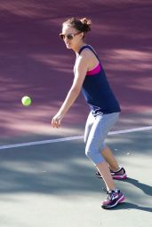 Natalie Portman Plays Some Casual Tennis in LA