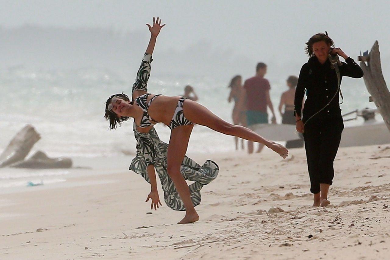 Nina Dobrev in Bikini at the beach in Tulum Pic 10 of 35