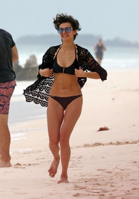 Nina Dobrev in Bikini on the Beach in Mexico