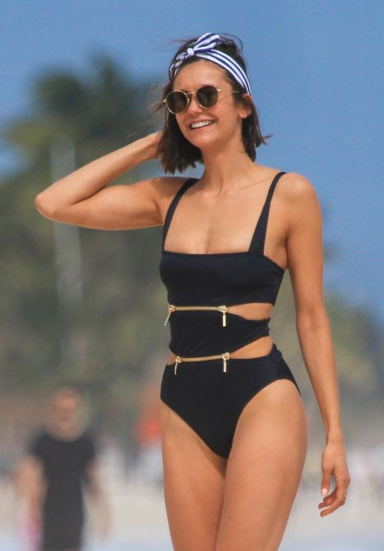 Nina Dobrev in Swimsuit in Tulum