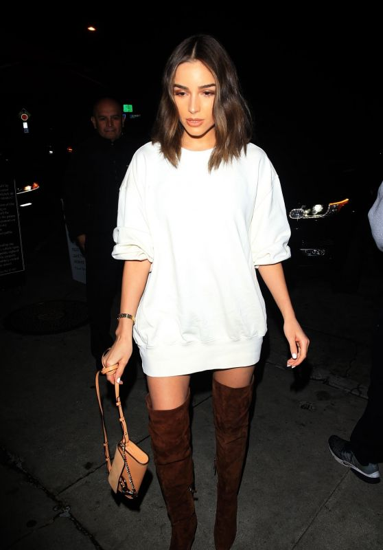 Olivia Culpo Night Out Style - Arriving at Craig