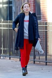 Olivia Wilde Street Style - Out in NYC 01/03/2018