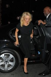 Pamela Anderson Leaves a Talk Launching Women Whistleblowing Wikileaks in London