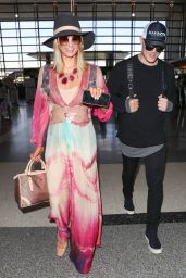 Paris Hilton and Chris Zylka at LAX Airport in Los Angeles 01/24/2018