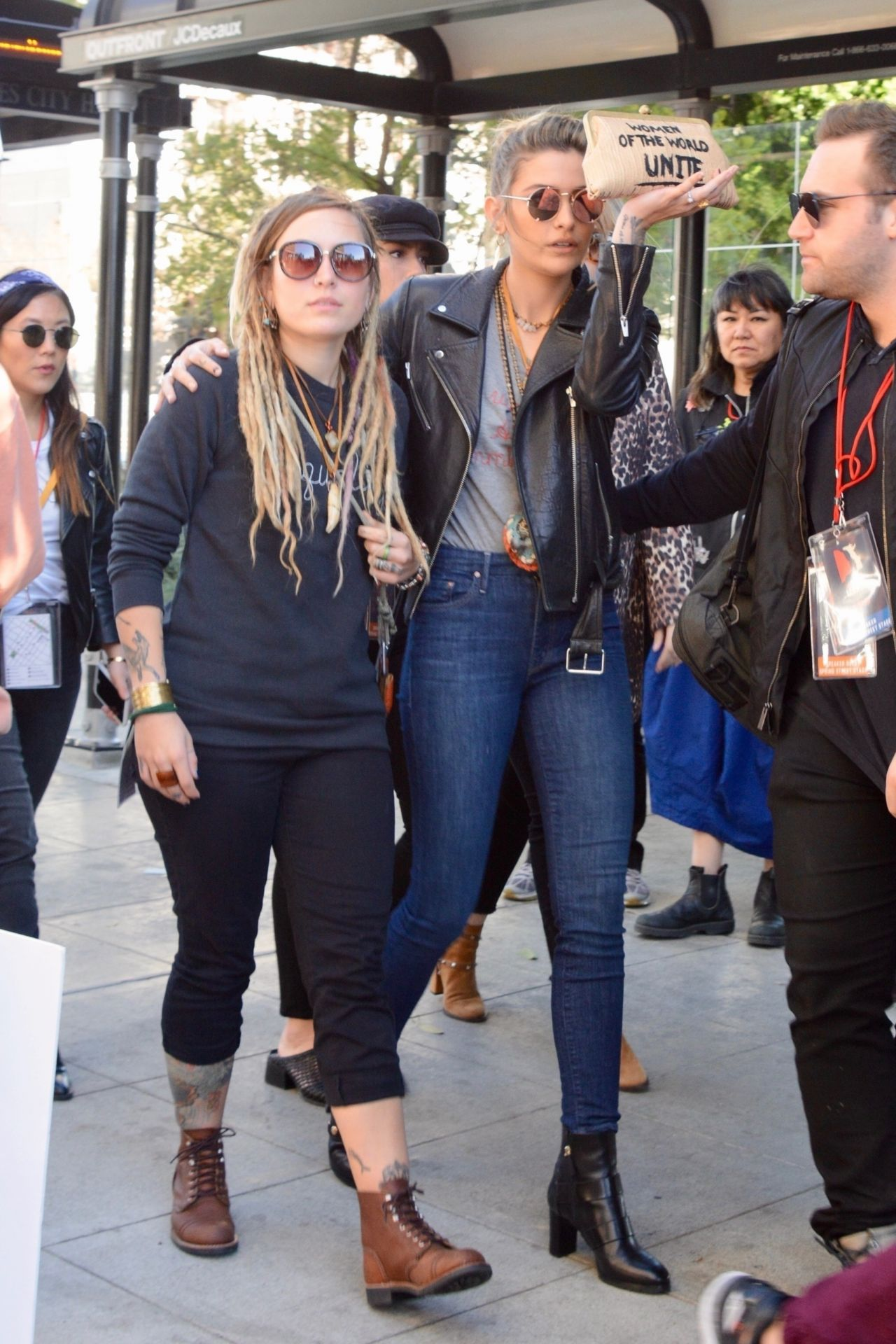 Paris Jackson At The Womens March 2018 In La-9302