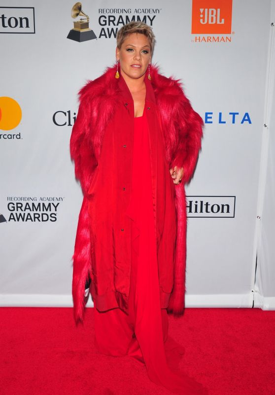 Pink – Clive Davis and Recording Academy Pre-Grammy Gala in NYC