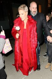 Pink - Leaving Her Hotel in New York 01/27/2018