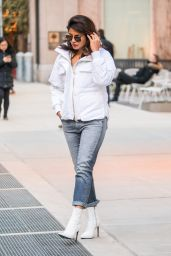 Priyanka Chopra Chic Street Style - New York City 01/24/2018