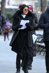"Priyanka Chopra - ""Quantico"" Set in Madison Square Park, Manhattan"