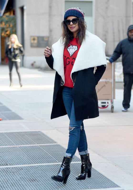 Priyanka Chopra Street Fashion - NYC 01/25/2018