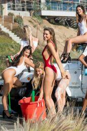 Rachel McCord in Red Bikini Washing Car in Malibu 01/18/2018
