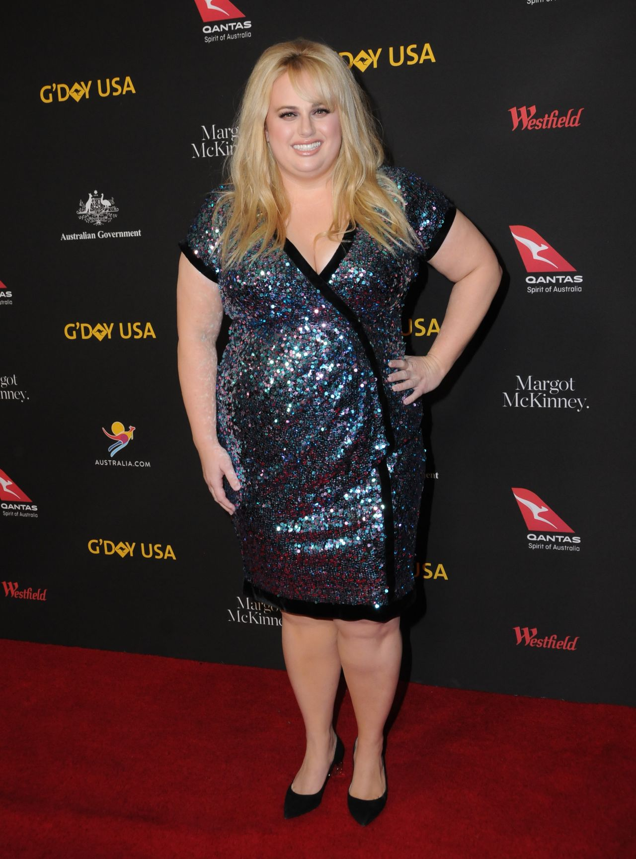 Rebel Wilson 2018 G Day Usa Los Angeles Black Tie Gala